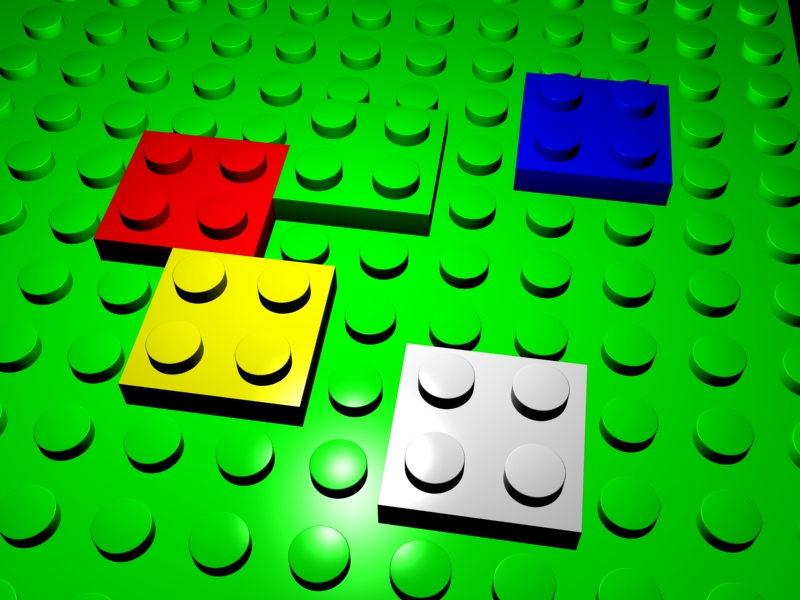 3d studio max some simple lego blocks lego